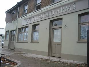 THE newly-repainted Clissold Arms this week